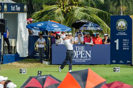 CHONBURI - DECEMBER 13 : Matthew Fitzpatrick of England player in Thailand Golf Championship 2015 at Amata Spring Country Club on December 13, 2015 in Chonburi, Thailand. Editorial