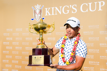 pga: CHONBURI - JULY 31 : Chan Shih-chang of Chinese Taipei winner in Kings Cup 2016 at Phoenix Gold Golf & Country Club Pattaya on July 31, 2016 in Chonburi, Thailand.