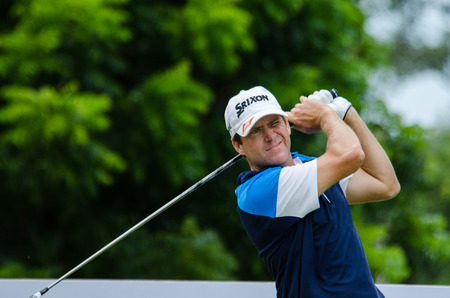 chonburi: CHONBURI - JULY 31 : Jason Knutzon of USA  in Kings Cup 2016 at Phoenix Gold Golf & Country Club Pattaya on July 31, 2016 in Chonburi, Thailand.
