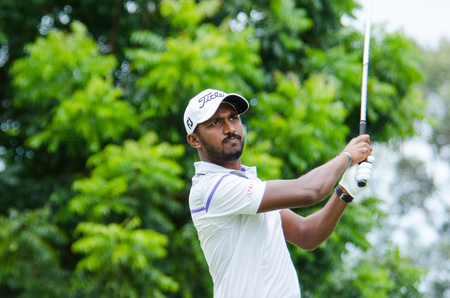 pga: CHONBURI - JULY 31 : S Chikkarangappa of India in Kings Cup 2016 at Phoenix Gold Golf & Country Club Pattaya on July 31, 2016 in Chonburi, Thailand.