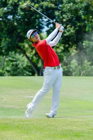 CHONBURI - JULY 31 : Jazz Janewattananond of Thailand in Kings Cup 2016 at Phoenix Gold Golf & Country Club Pattaya on July 31, 2016 in Chonburi, Thailand.
