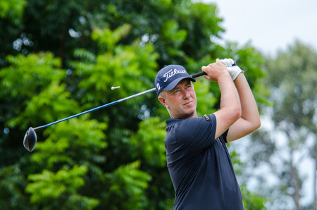 pga: CHONBURI - JULY 31 : Mark Foster of England in Kings Cup 2016 at Phoenix Gold Golf & Country Club Pattaya on July 31, 2016 in Chonburi, Thailand.
