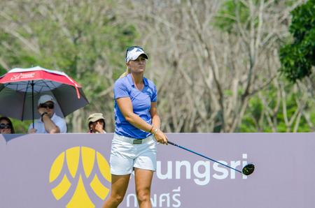 stakes: CHONBURI - FEBRUARY 28 : Anna Nordqvist of Sweden in Honda LPGA Thailand 2016 at Siam Country Club, Pattaya Old Course on February 28, 2016 in Chonburi, Thailand.