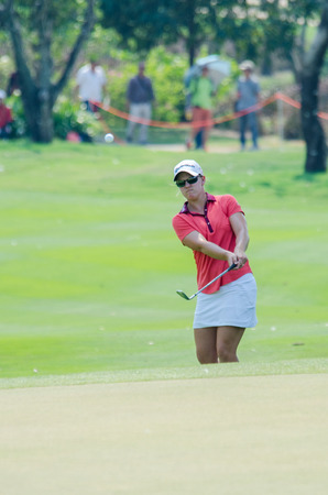 stakes: CHONBURI - FEBRUARY 28 : Austin Ernst of USA in Honda LPGA Thailand 2016 at Siam Country Club, Pattaya Old Course on February 28, 2016 in Chonburi, Thailand.