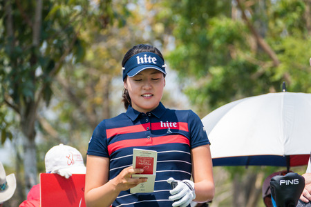 CHONBURI - FEBRUARY 28 : In Gee Chun of South Korea in Honda LPGA Thailand 2016 at Siam Country Club, Pattaya Old Course on February 28, 2016 in Chonburi, Thailand.