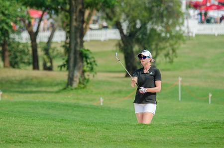 paula: CHONBURI - FEBRUARY 27: Paula Creamer of USA in Honda LPGA Thailand 2016 at Siam Country Club, Pattaya Old Course on February 27, 2016 in Chonburi, Thailand.