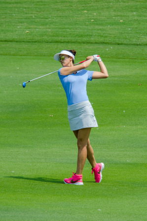 stakes: CHONBURI - FEBRUARY 27: Michelle Wie of USA in Honda LPGA Thailand 2016 at Siam Country Club, Pattaya Old Course on February 27, 2016 in Chonburi, Thailand. Editorial