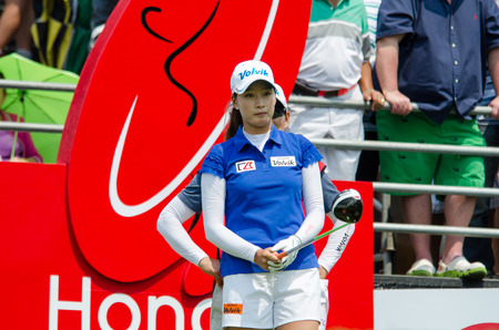 CHONBURI - FEBRUARY 27 : Chella Choi of South Korea in Honda LPGA Thailand 2016 at Siam Country Club, Pattaya Old Course on February 27, 2016 in Chonburi, Thailand. Editorial