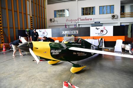 shoestring: CHONBURI - NOVEMBER 20 :  Shoestring aircraft in Air Race 1 Thailand at U-Tapao International Airport on November 20, 2016 in Chonburi, Thailand.