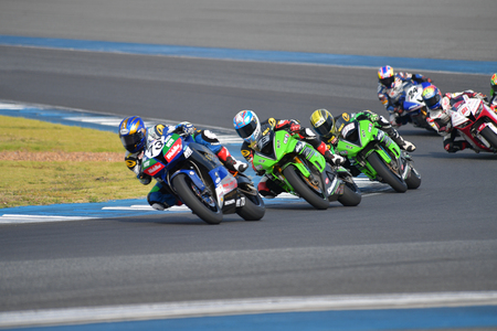 BURIRAM - DECEMBER 4 : Hikari Okubo of Japan with Honda motorcycle of SuperSport 600cc. in Asia Road Racing Championship 2016 Round 6 at Chang International Racing Circuit on December 4, 2016, Buriram, Thailand.