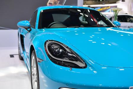 NONTHABURI - DECEMBER 8: Porsche 718 Cayman car on display at Thailand International Motor Expo 2016 on December 8, 2016 in Nonthaburi, Thailand.