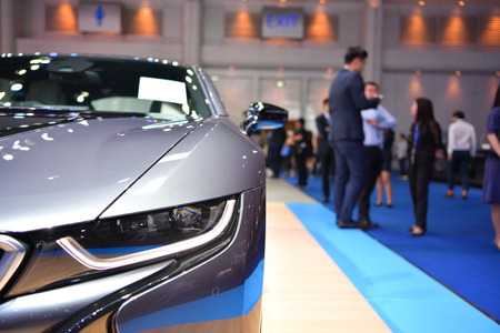NONTHABURI - MARCH 28: BMW i8 on display at The 38th Bangkok International Thailand Motor Show 2017 on March 28, 2017 Nonthaburi, Thailand.