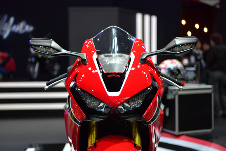 NONTHABURI - MARCH 28: Honda CBR1000RR motorcycle on display at The 38th Bangkok International Thailand Motor Show 2017 on March 28, 2017 Nonthaburi, Thailand.