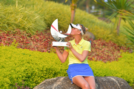 CHONBURI - FEBRUARY 25 : Jessica Korda of USA the winner in Honda LPGA Thailand 2018 at Siam Country Club, Old Course on February 25, 2018 in Pattaya Chonburi, Thailand.