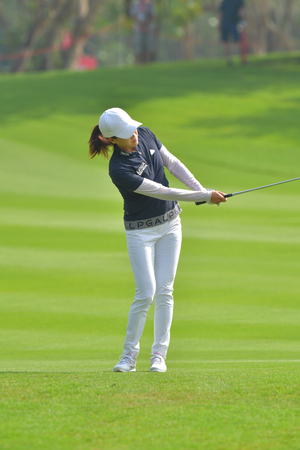 CHONBURI - FEBRUARY 24 : Jennifer Song of USA in Honda LPGA Thailand 2018 at Siam Country Club, Old Course on February 24, 2018 in Pattaya Chonburi, Thailand. Editorial