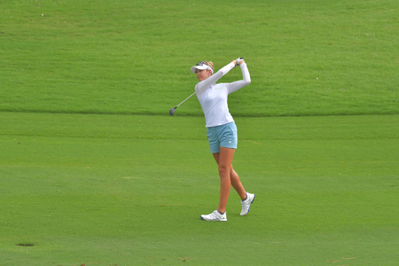 CHONBURI - FEBRUARY 24 : Nelly Korda of USA in Honda LPGA Thailand 2018 at Siam Country Club, Old Course on February 24, 2018 in Pattaya Chonburi, Thailand. Editorial