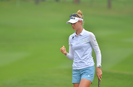 Nelly Korda of USA in Honda LPGA Thailand 2018 at Siam Country Club, Old Course on February 24, 2018 in Pattaya Chonburi, Thailand.