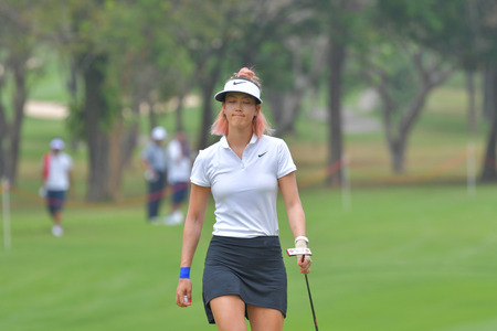 Michelle Wie of USA in Honda LPGA Thailand 2018 at Siam Country Club, Old Course on February 24, 2018 in Pattaya Chonburi, Thailand.