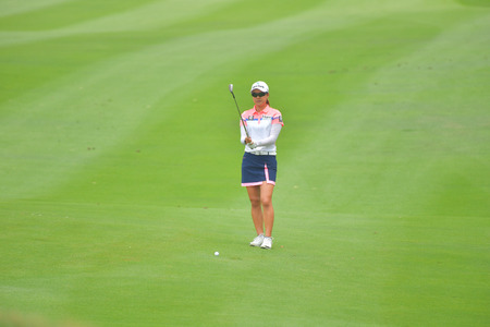Minjee Lee of Australia in Honda LPGA Thailand 2018 at Siam Country Club, Old Course on February 24, 2018 in Pattaya Chonburi, Thailand.