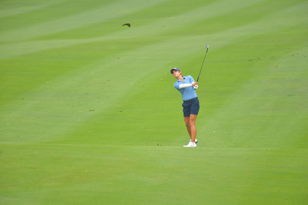 Azahara Munoz of Spain in Honda LPGA Thailand 2018 at Siam Country Club, Old Course on February 24, 2018 in Pattaya Chonburi, Thailand. Editorial