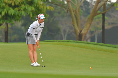 Chella Choi of Republic of Korea in Honda LPGA Thailand 2018 at Siam Country Club, Old Course on February 24, 2018 in Pattaya Chonburi, Thailand.