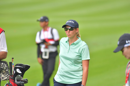 Mo Martin of USA in Honda LPGA Thailand 2018 at Siam Country Club, Old Course on February 24, 2018 in Pattaya Chonburi, Thailand.
