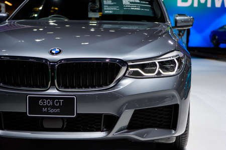 BMW 630i GT M Sport car on display at THE 41st BANGKOK INTERNATIONAL MOTOR SHOW 2020 on July 14, 2020 in Nonthaburi, Thailand.