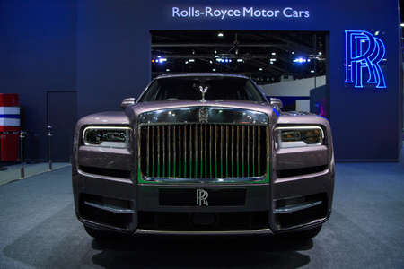 Rolls-Royce Cullinan Super Luxury SUV car on display at THE 41st BANGKOK INTERNATIONAL MOTOR SHOW 2020 on July 14, 2020 in Nonthaburi, Thailand.