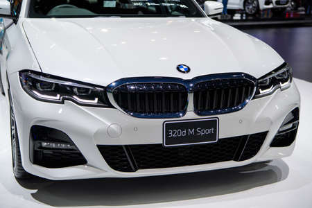 BMW 320d M Sport car on display at THE 41st BANGKOK INTERNATIONAL MOTOR SHOW 2020 on July 14, 2020 in Nonthaburi, Thailand.