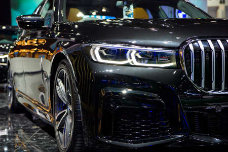 New BMW 7 Series 2020 car on display at THE 41st BANGKOK INTERNATIONAL MOTOR SHOW 2020 on July 14, 2020 in Nonthaburi, Thailand.
