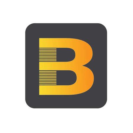 white background letter B logo design. letter B logo design for your website design.