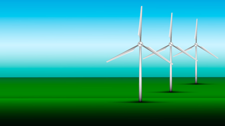 windfarm: Wind Turbine Illustration