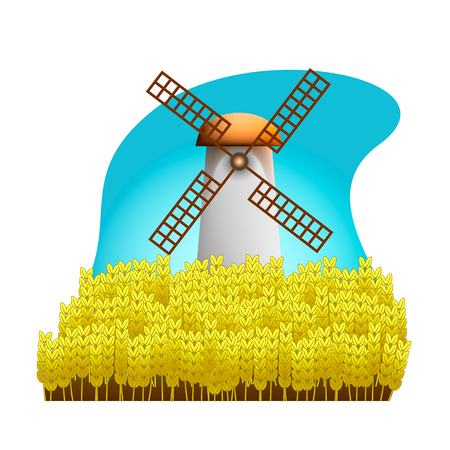 agrarian: the mill on the wheat field