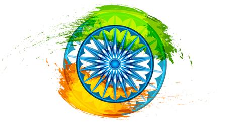 インド共和国独立記念日の祭典のためのインド共和国の背景。ベクトル図