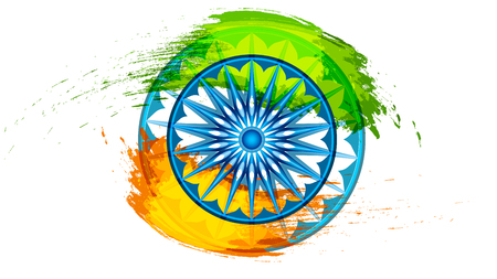 Background for Indian Republic for Indian Republic Independence Day celebration. Vector illustration