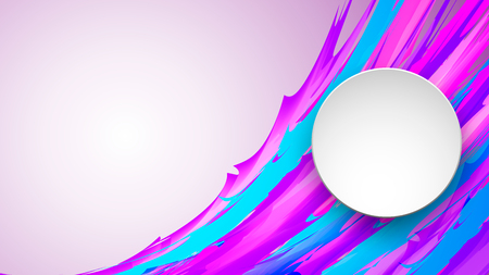 Vector colorful banner made of bright lines with space for text. Illustration