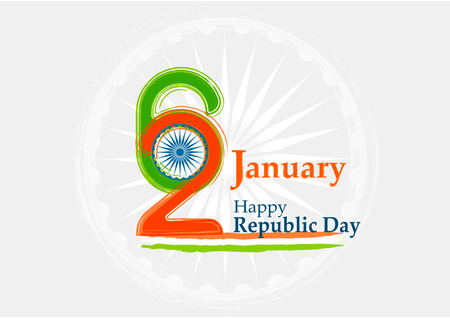 Indian Republic day concept 26 January. Vector illustration