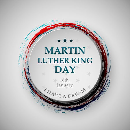 Martin Luther King day badge eps10 vector illustration for posters