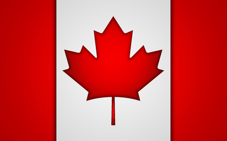 National Canada flag. Vector illustration. EPS10.