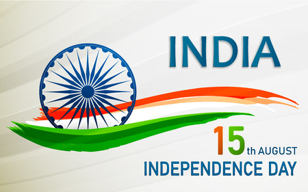 Banner or flyer design for 15th August, Happy Independence Day celebration.
