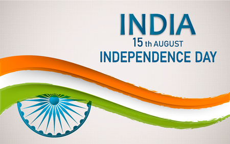 Banner or flyer design for 15th August, Happy Independence Day celebration. Vector Illustration Stock Photo