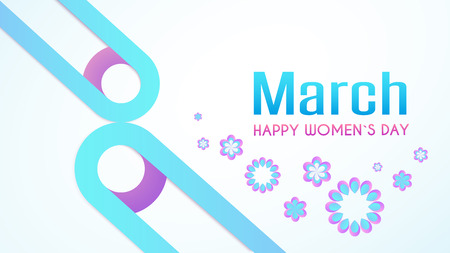 March 8 Happy womans day. Trendy Design Template. Vector Illustration Illustration