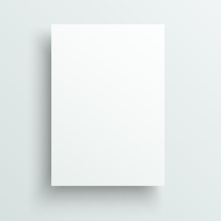 Hoja vacía de plantilla de papel. Fondo de vector realista.