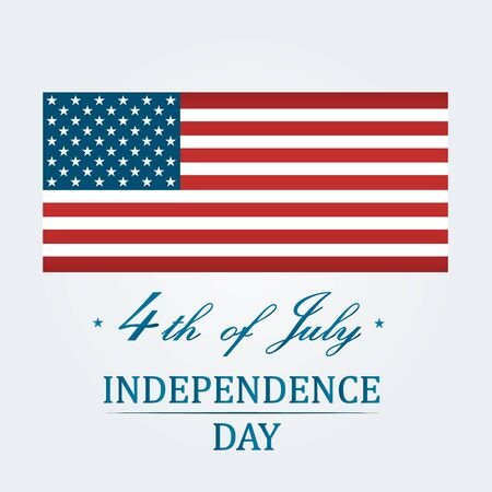 American Independence Day 4th of July. Typographic design. Vector illustration