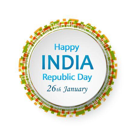Happy Republic day of India celebration 26 january.