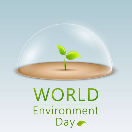 Banner for World Environment Day. World Environment Day concept. Vector illustration Vettoriali