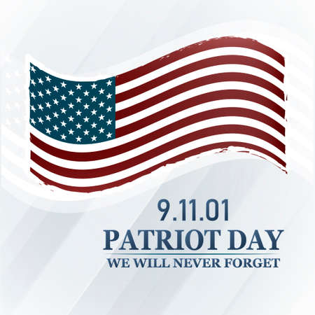 Patriot Day background. We Will Never Forget. 9 11. Vector illustration.