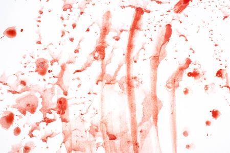 Print of blood drop streaks on white background for medicine design