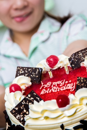 Happy Birthday Cake Standard-Bild