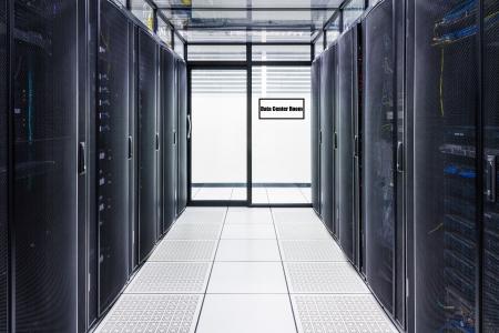 Data Center und Server Room With Zeichen